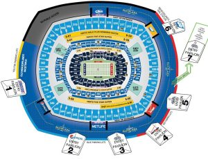 Seating Chart and Entrance Gates Metlife Stadium