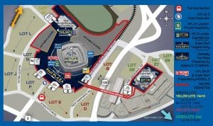 Melife Stadium Map for Super Bowl Parking and Entry Gates